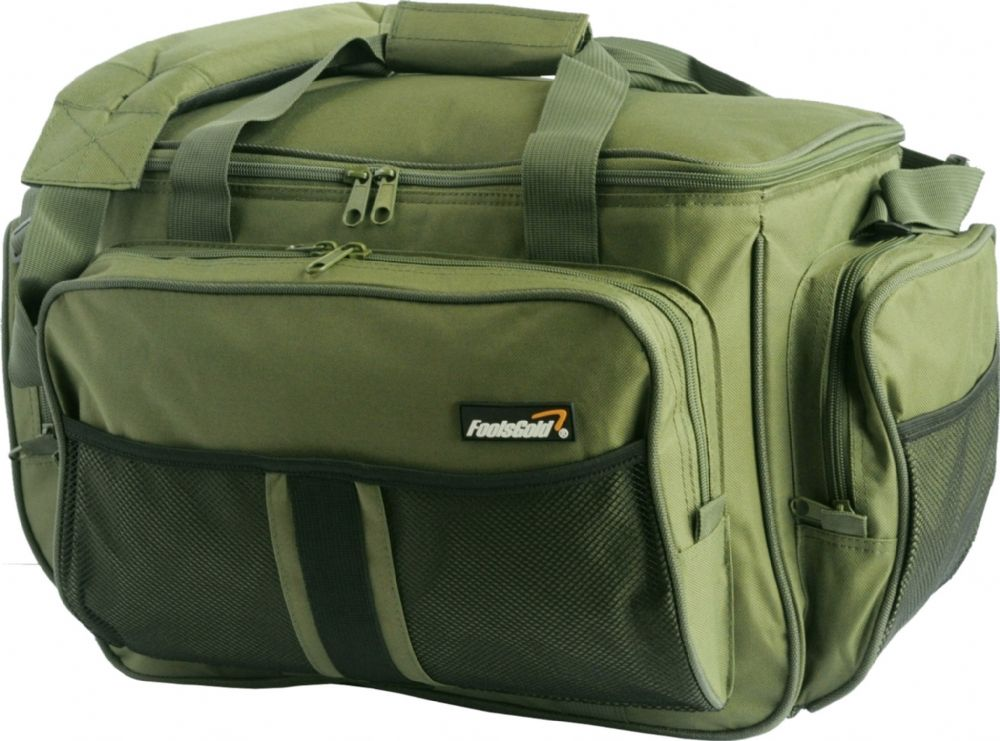 Large Olive Green Insulated foolsGold Fishing Holdall Bag
